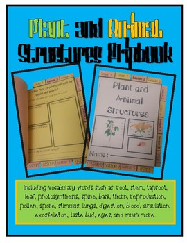 Plant and Animal Structures Flipbook