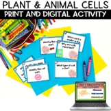 Plant and Animal Cells Task Card Review Activity