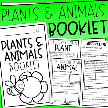 Plant and Animals Booklet