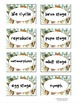 Plant and Butterfly Life Cycle Vocabulary Match Cards - TE
