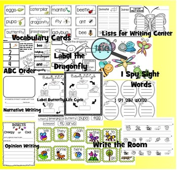 Plant and Insect Literacy Bundle