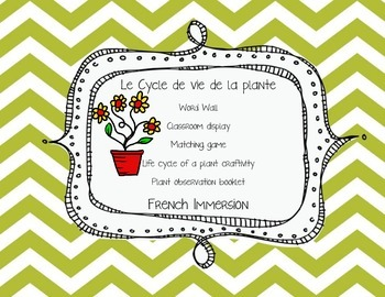Plant life cycle- French Immersion