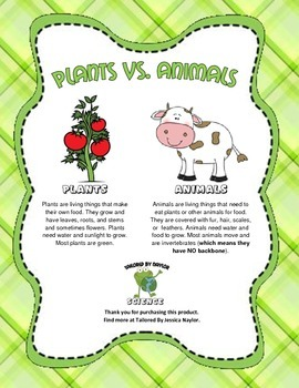 Science Test: Plant or Animal (Plants vs. Animals)