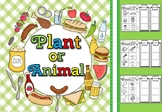 Plant or animal  sort