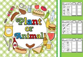 Plant or animal  sort