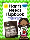 Plant's Needs Flip Book Activity