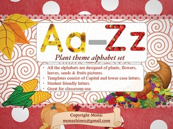 Plant Theme Alphabet Set