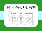 Plant vs Animal Cell Foldable