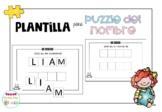 Plantilla para puzzles de nombres