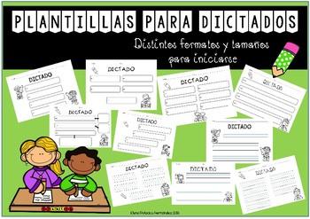 Plantillas para dictados / Templates for dictations (Spanish)