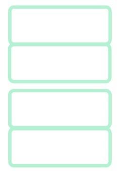 Plantillas para imprimir tarjetas con PISTAS