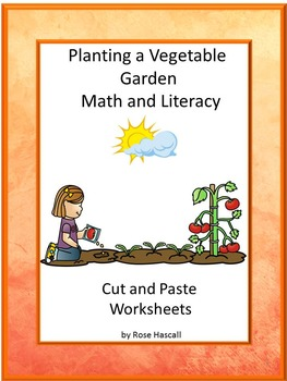 Spring Math and Literacy Cut and Paste Packet for Kindergarten Special Education