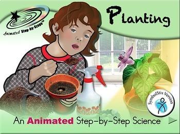 Planting - Animated Step-by-Step Science SymbolStix