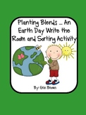 Planting Blends - An Earth Day Themed Write the Room and Word Sort
