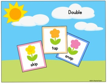 Planting Flowers (Adding -ed to short  vowels)
