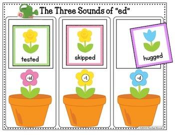 -ed endings to short vowel words -  Planting Flowers