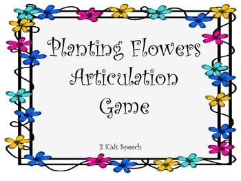 Planting Flowers Articulation Game