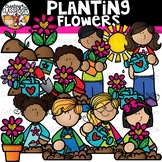Planting Flowers Clipart {Spring Clipart}