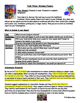 Planting Flowers Science Assessment Task