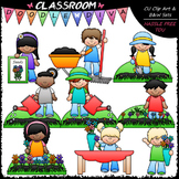 Planting Flowers Clip Art (Sequencing / Procedural) Clip A