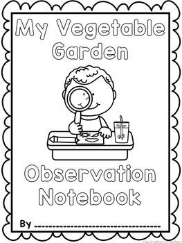 Planting & Gardening Vegetables {printable book, observation notebook, etc.}