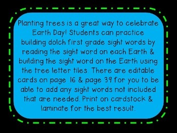 Planting Sight Word Building Activity