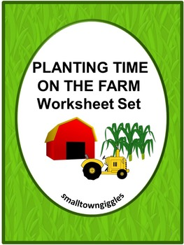 Farm Planting Cut and Paste Math & Literacy Centers Worksh