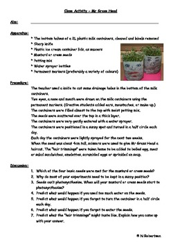 Planting Tomatoes Science Lesson Four