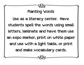 Planting Words