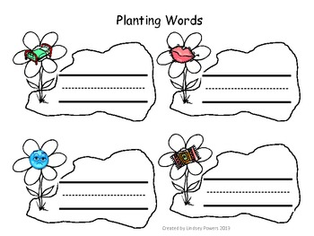 Planting Words - CVC Blending Words Activity