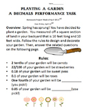 Planting a Decimal Garden: A 4th Grade Project 4.NF.5, 4.NF.6