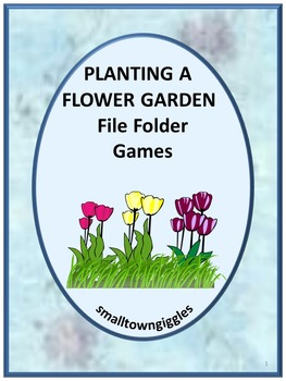 Garden,File Folder Games, Summer Special Ed,Summer Review, Summer School