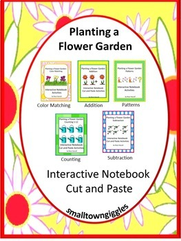 Interactive Notebook Planting a Flower Garden Cut and Paste
