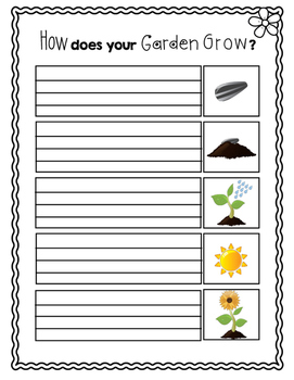 Planting a Flower Writing Prompt