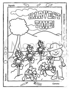 Planting a Garden Coloring Sheets