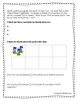 Planting a Garden--Composing & Decomposing Fractions