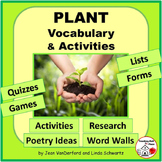 VOCABULARY & PLANT Activities | SCIENCE UNIT | Resource Lists | Gr 4-5-6-7