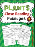 Plants Unit: Plants Close Reading Passages and Activities