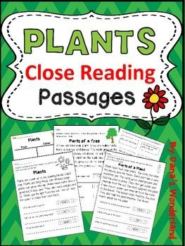 Plants Unit: Plants Close Reading Passages and Activities