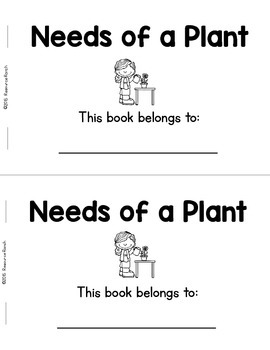 Plants Guided Reading Needs of a Plant