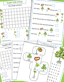 Plants Life Cycle Math Graphing Activities For Plant Unit & Poetry Search