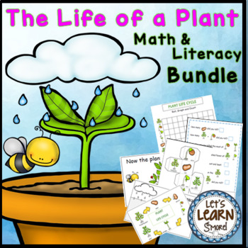 Plant Life Cycle, Math and Literacy Activities, Plants Unit, Garden Unit