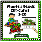 Counting 1-20 Plants and Seeds Clip Cards