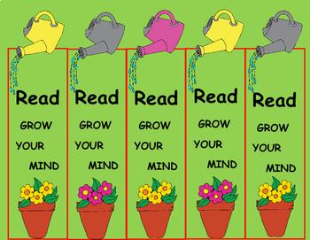 Plants / Garden Activities Bookmarks (Free) Coloring For Garden Unit