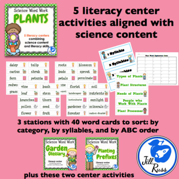Plants: 5 Literacy Stations combining Science and Literacy for Big Kids