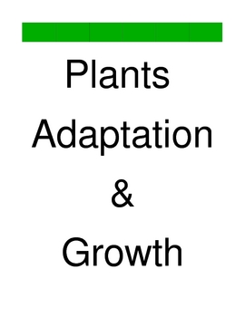 Plants Adaptations and Growth BOARD GAME