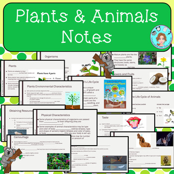 Plants & Animals Bundle – All About Organisms – Upper Elementary – No Prep
