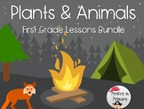 Plants & Animals First Grade Science Lesson Bundle **NGSS Aligned**