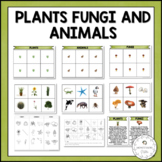 Plants, Animals and Fungi Sorting Cards | Nature Curriculum in Cards