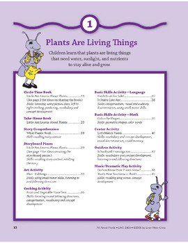 Plants Are Living Things: Language and Math Activities